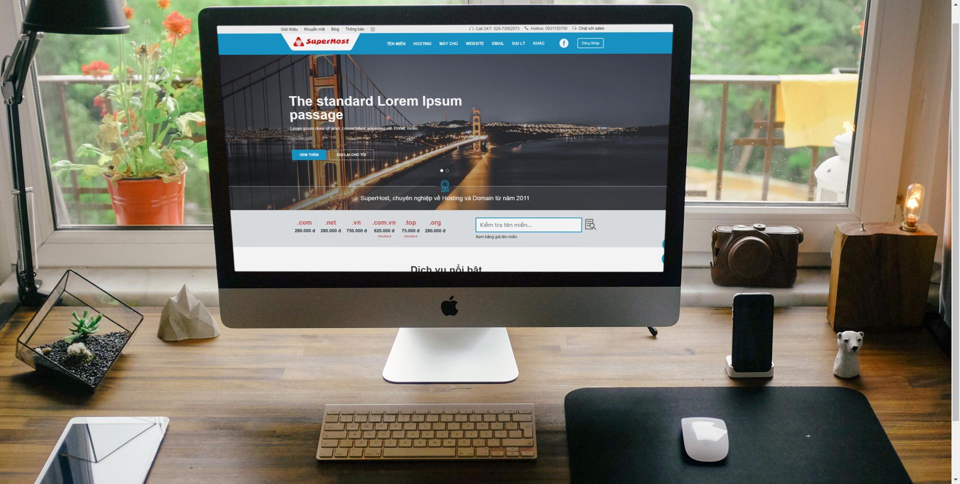 giao dien desktop website superhost