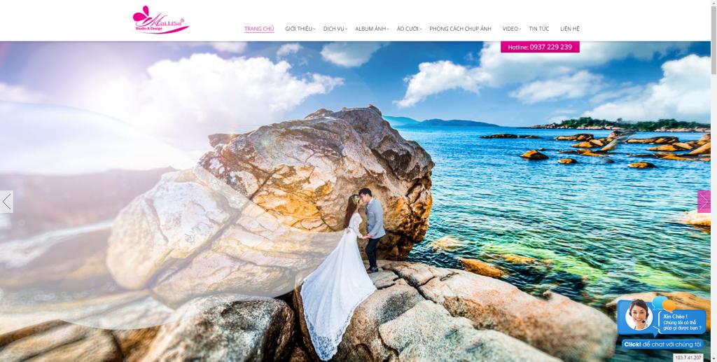 Thiết kế website áo cưới – mẫu 4478