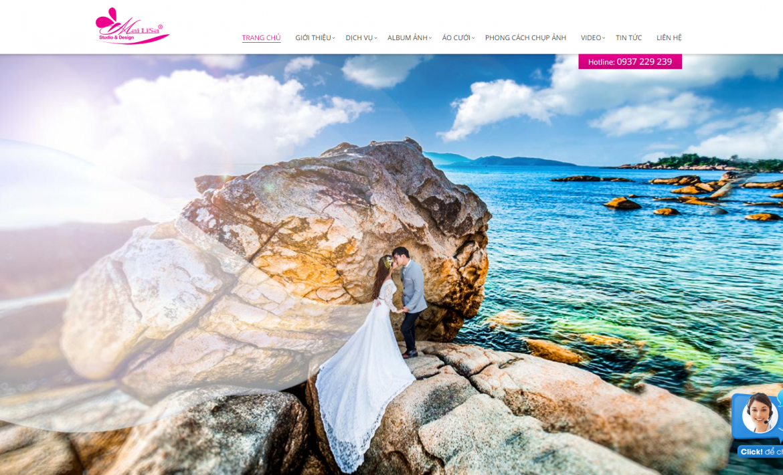 Thiêt kế website studio cưới
