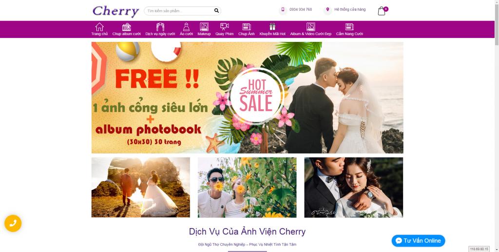 Thiết kế website áo cưới – mẫu 4494