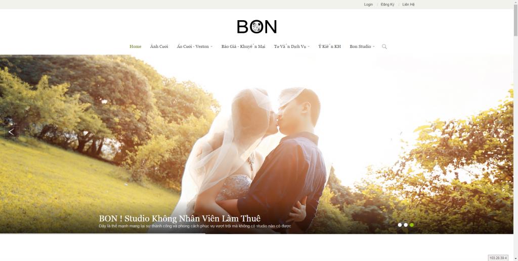 Thiết kế website áo cưới – mẫu 4506