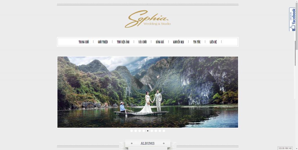 Thiết kế website áo cưới – mẫu 4515