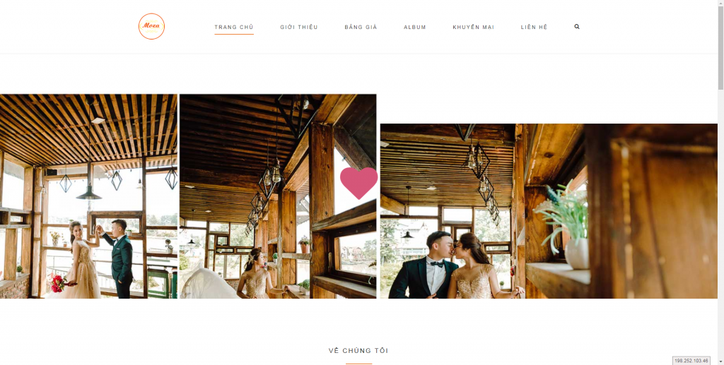Thiết kế website áo cưới – mẫu 4528