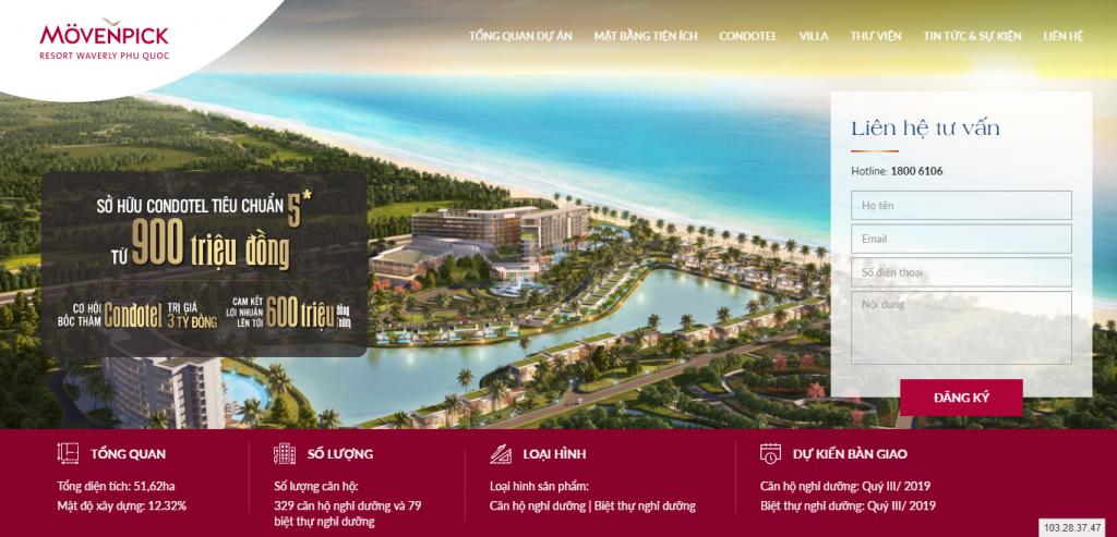 Thiết kế website bất động sản – mẫu 4541