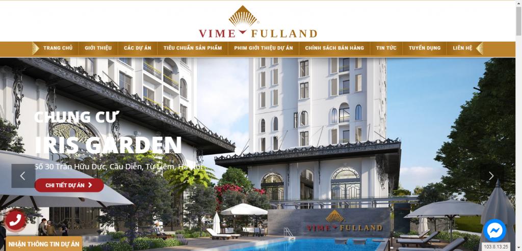 Thiết kế website bất động sản – mẫu 4549