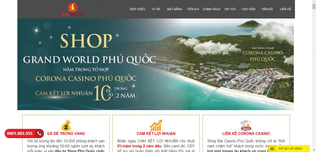 Thiết kế website bất động sản – mẫu 4565