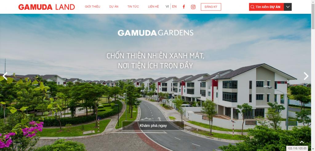 Thiết kế website bất động sản – mẫu 4573
