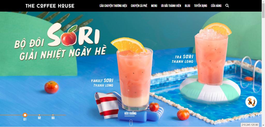 Thiết kế website cửa hàng cafe – mẫu 4607