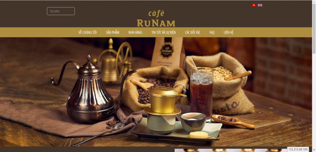Thiết kế website cửa hàng cafe – mẫu 4619
