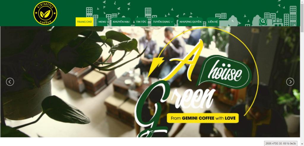 Thiết kế website cửa hàng cafe – mẫu 4634
