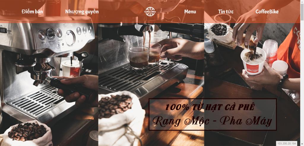 Thiết kế website cửa hàng cafe – mẫu 4642