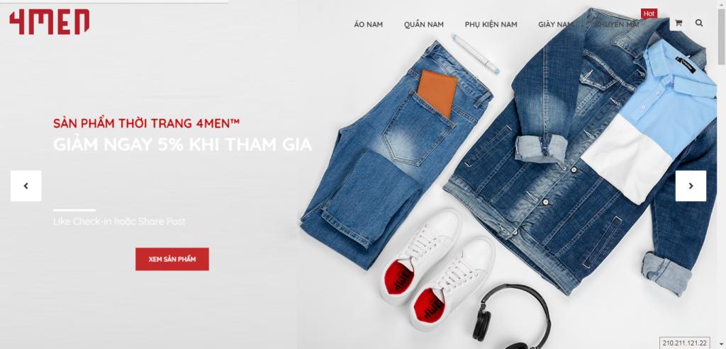 Thiết kế website shop thời trang – mẫu 4668