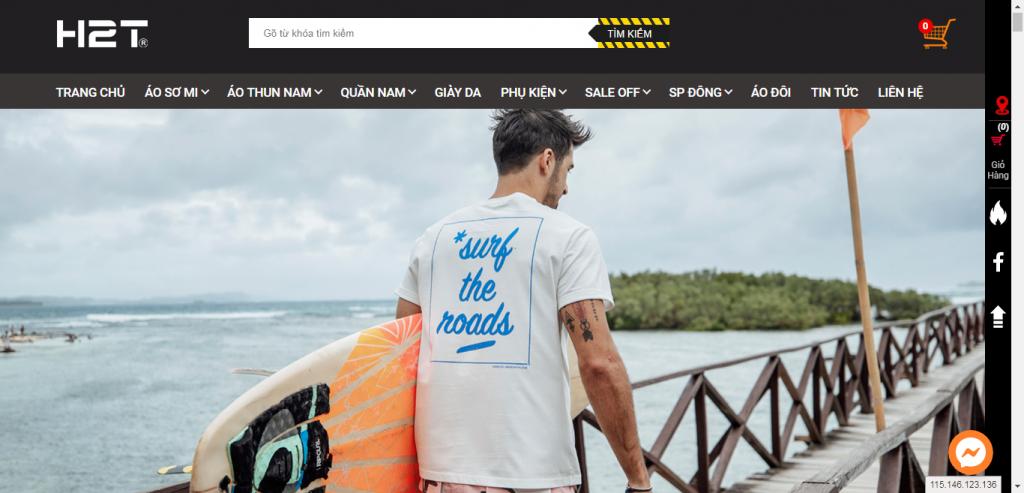 Thiết kế website shop thời trang – mẫu 4676
