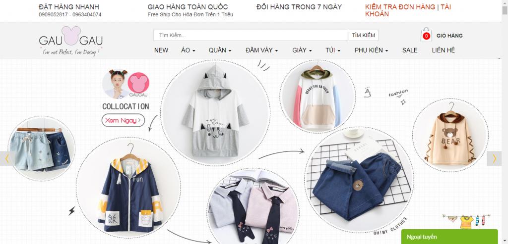 Thiết kế website shop thời trang – mẫu 4686