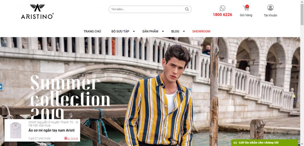 Thiết kế website shop thời trang – mẫu 4694