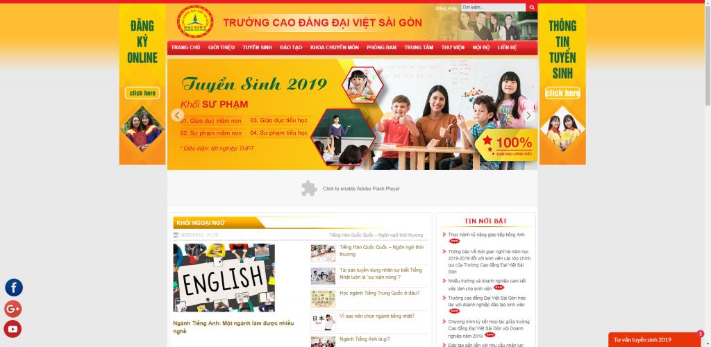 Thiết kế website trường Cao Đẳng – mẫu 4733