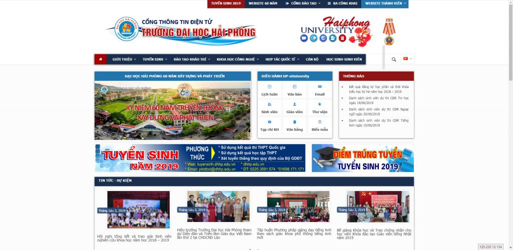 Thiết kế website trường Đại Học – mẫu 4750