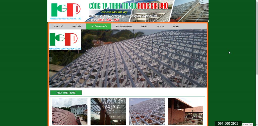 Thiết kế website thi công xây dựng – mẫu 4861