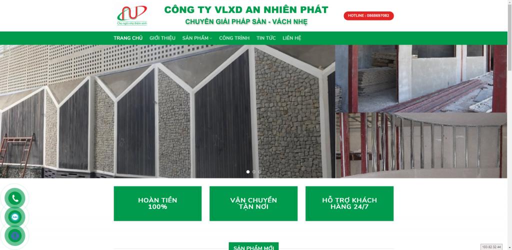 Thiết kế website thi công xây dựng – mẫu 4872
