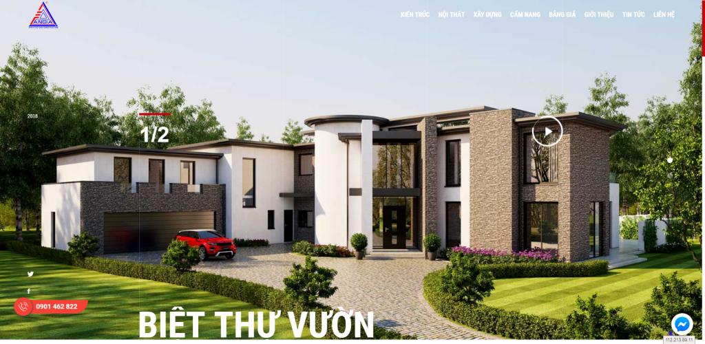 Thiết kế website thi công xây dựng – mẫu 4891