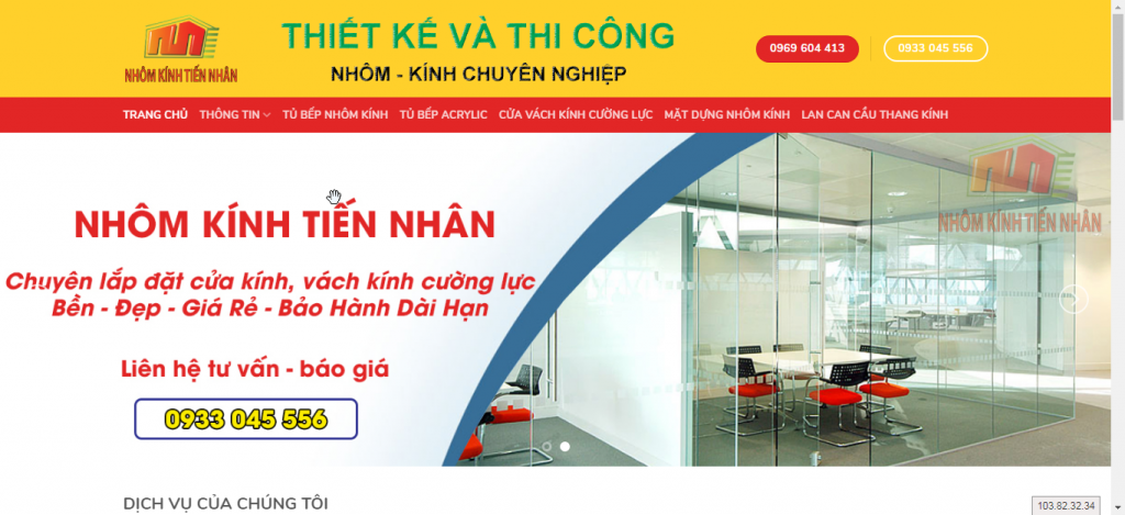 Thiết kế website thi công xây dựng TIẾN NHÂN