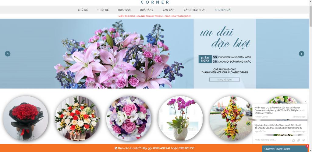 Thiết kế website shop hoa tươi mẫu 4933