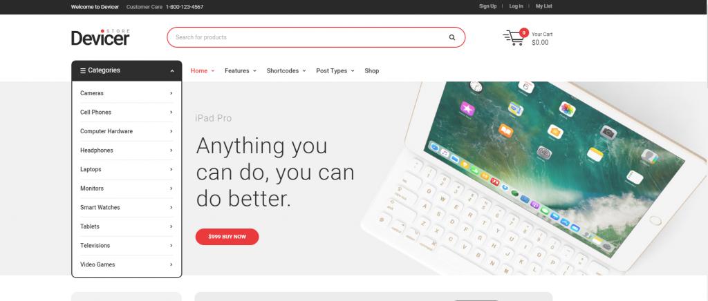 Thiết kế website phụ kiện điện thoại