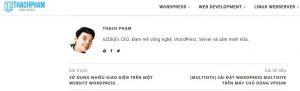 blog wordpress Thach Pham
