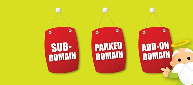 Các thông số Addon domain, parked domain, sub domain của web hosting