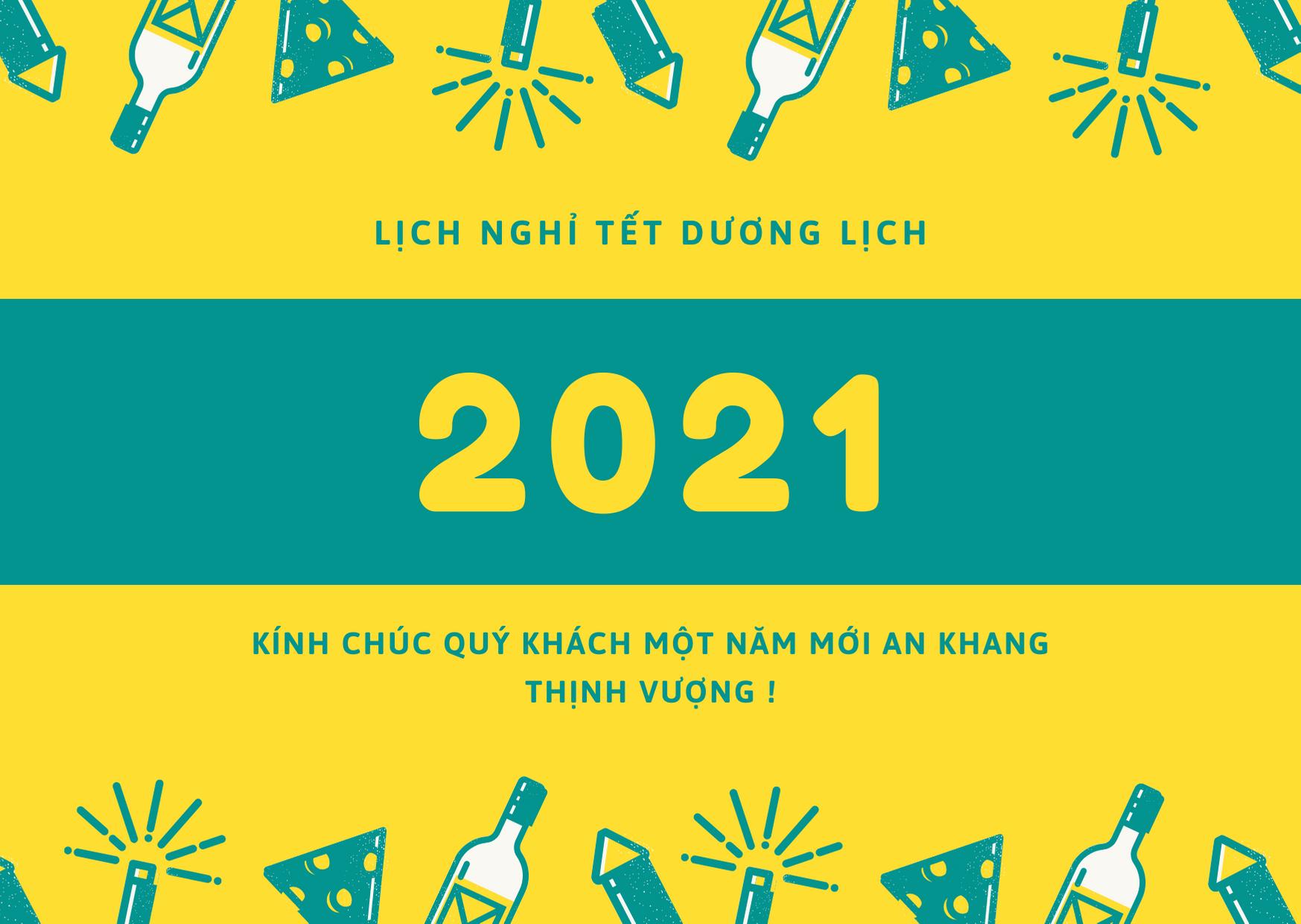 Thông báo nghỉ tết Dương Lịch 2021 - SuperHost.vn