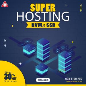 Super Hosting chất lượng cao NVMe SSD